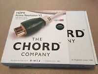 Latest specification Chord Active Resolution V2 HDMI lead. 8 metres