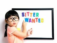 BABY SITTER WANTED RANDOM DAYS.