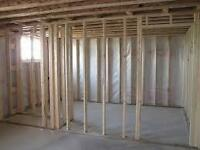 $1,800 TO 2,200 FRAME MOST BASEMENTS INCLUDING MATERIALS