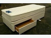 SINGLE BED WITH SUPERB QUALITY THICK MATTRESS FOR EXTRA COMFORT WITH PADDED HEADBOARD AND DRAWERS