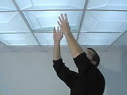 Ceiling acoustic tiles, from $1:25sq/ft labour plus materials Strathcona County Edmonton Area image 1