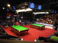 world championship snooker, 3 tickets, seated together Monday 24th April 7 pm table 2 crucible