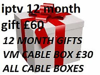 12 MONTH LINES GIFTS SKYBOX CABLE VM COMBO OPENBOX MAG BOX ISTAR MUTANT EVO