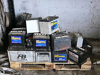 Free disposal of batteries and wire I pick up