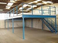 MEZZANINE FLOOR 10M X 4M WITH STAIRS DISMANTLED READY TO GO. REDUCED!!( STORAGE , PALLET RACKING )