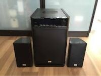 ONKYO HTX-22HD 2.1 SOUROUND SOUND SYSTEM FULL HD WITH 2 SATALITE SPEAKERS NO REMOTE
