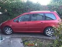 2004 PEUGEOT 307 diesel hdi estate (CAN BE USED AS 7 SEATER)