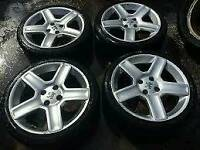 "Peugeot 17"" alloys with tyres"