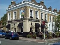 PART TIME BAR/FLOOR STAFF REQUIRED FOR BUSY BRIXTON PUB