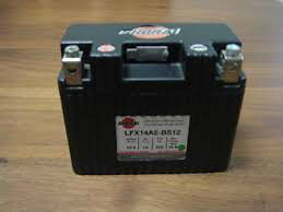 LITHIUM SHORAI BATTERY FOR MOTORCYCLES AND ATVS LFX14A2-BS12