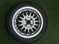 "*** Vw Golf Mk2 GTI BBS 15 "" RZ Refurbished Rim And New 195/50 15 Kumho Tyre *** £75"