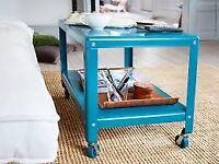 IKEA PS 2012 Metal Coffee Side Table on Castors