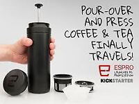 Coffee travel press Make: Espro Colour: Matt Black