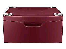 Samsung washer or dryer pedestal drawer.  Red / Cranberry colour