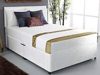 ⚡️⚡️⚡️BUY IT NOW GET SAME DAY⚡️⚡️⚡️ BRAND NEW DOUBLE DIVAN BED BASE WITH SEMI ORTHOPEDIC MATTRESS