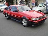 Wanted - Toyota Corolla Twincam AE86 Levin UK or import