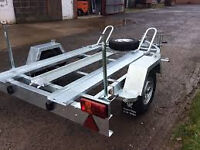 Double Bike trailer for hire. 20.99/day