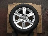 audi a3 alloy wheel like new condition with tyre fits most cars 5 stud