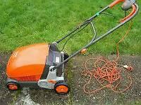 Flymo compact lawn rake 3400 mower garden