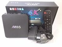 M8S $110 ANDROID TV FULLY LOADED KODI 15.2 BRAND NEW