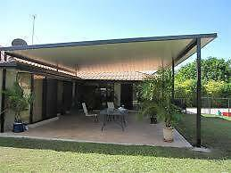 patio glass fence steel  gate brick wall&render&plaster Canning Vale Canning Area Preview
