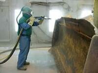Commercial Sandblasting, Painting & Decaling......$55/Hour......