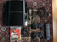 Sony PS3 80GB 7200rpm All working phat with BD remote with 2 Games MW3 and Assasins creed 2