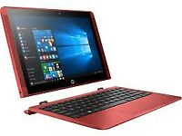 HP X2 10-P007na, Intel® Atom™ X5, 2Gb RAM, 32Gb Storage, 10.1in Touchscreen 2 In 1 Laptop - Red