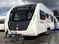 Sterlin Eccles Sport 640 2014 6 berth twin axel caravan