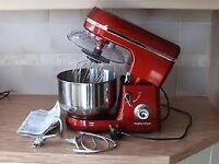 morphy richards stand mixer in red, as new never used, price drop to £40