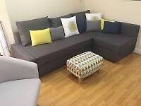 IKEA FRIHETEN Corner sofa-bed with storage BARGAIN HABITAT WEST ELM House Clearance
