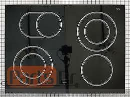 YKESA907PS00 KITCHENAID / WP9759983BL Whirlpool  Slide-In Range Electric Glass Cooktop D36  Width 21 3/4 Length 29 1/2