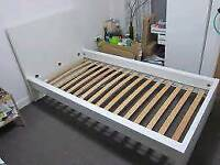 White Ikea Luroy Single bed