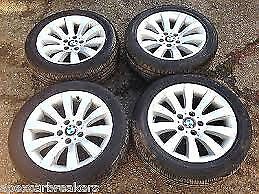 bmw e60 5 series 17 inch alloy wheel set with tyres for sale call for any info