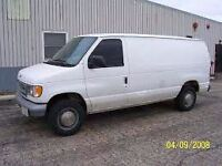 CARGO VAN READY FOR MOVING AND TRANSPORTATION
