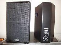 NEXO PS10 SPEAKERS AND NEXO LS18 SPEAKERS