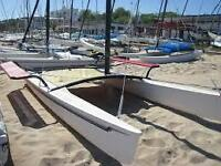 17' Hobie Cat with trailer