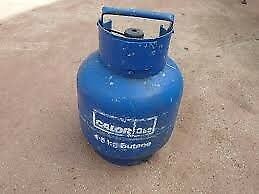 Calor gas bottle 4.5 kg with half full of gas