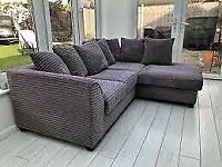 BIG SALE ON ALL NEW DYLAN JUMBO CORD CORNER & 3+2 SEATER SOFA SET AVAILABLE IN STOCK