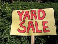 Yard Sale TODAY Starts at 10.00 AM goes ALL DAY=)