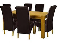 Scheriber 150 Oak table and 6 chairs