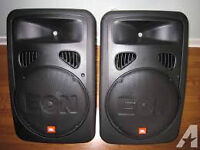 PAIRE DE SPEAKERS AMPLIFIEES JBL EON 15 G2