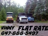 FLAT RATE DISPOSAL.TREE REMOVAL WOOD AND BRANCHES $55-$130.