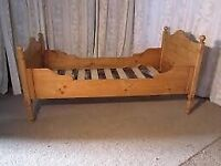 Antique Pine Sleigh Bed (Single)