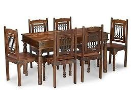 Sheesham Dining Table and 6 Chairs