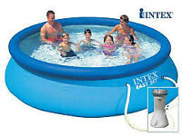 PISCINE GONFLABLE AUTOPORTANTE INTEX EASY SET 12 PIEDS ÉQUIPÉE!