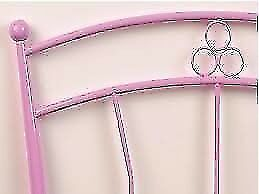 3ft Metal headboards, choice of pink or black