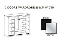 🎄 CHRISTMAS WOW OFFER 🎄 BERLIN WARDROBE 🎄 2/3 MIRRORED SLIDING DOORS 🎄 DELIVERED SAME DAY 🎄
