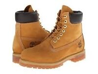 New Men's Size 6 Original Timberland Boots and Timberland cleaning kit