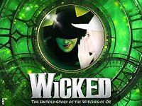 2 front row circle tickets for Wicked @ Wales Millennium Centre, Saturday 3rd November 2018, 2:30pm.